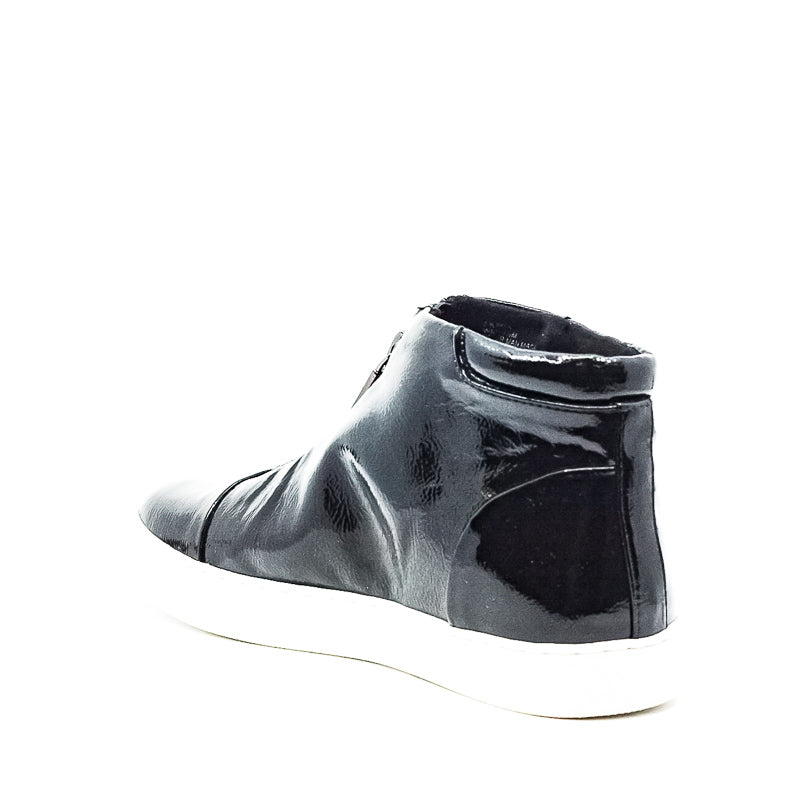 Yieldings Discount Shoes Store's Kayla Zip Sneakers by Kenneth Cole in Black