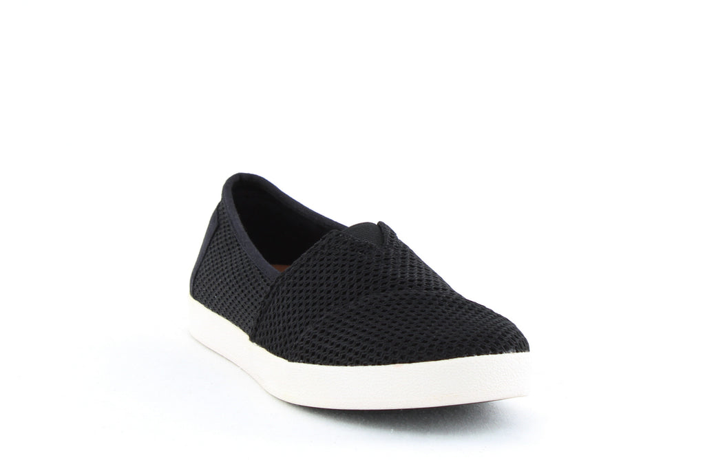 Yieldings Discount Shoes Store's Avalon Slip Ons by Toms in Black Mesh