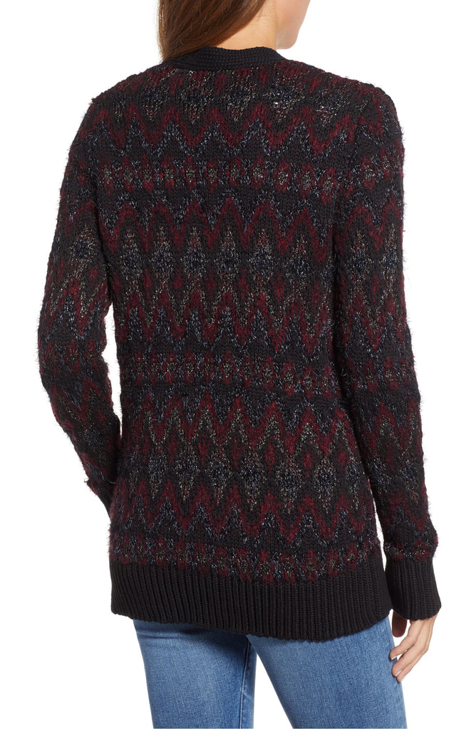 Yieldings Discount Clothing Store's Fair-Isle Cardigan by Lucky Brand in Black Multi