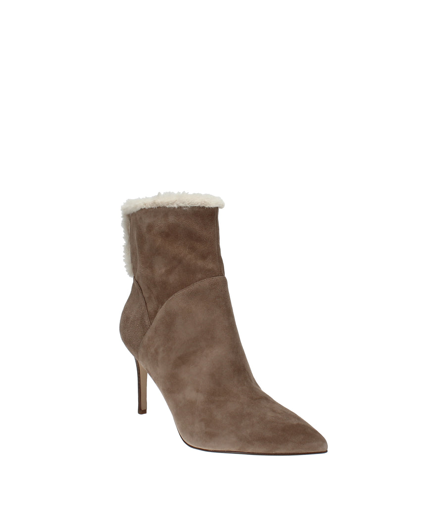 Yieldings Discount Shoes Store's Fhani Dress Booties by Nine West in Light Natural Suede