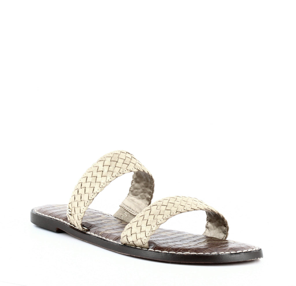 Sam Edelman | Gala Woven Leather Flat Sandals
