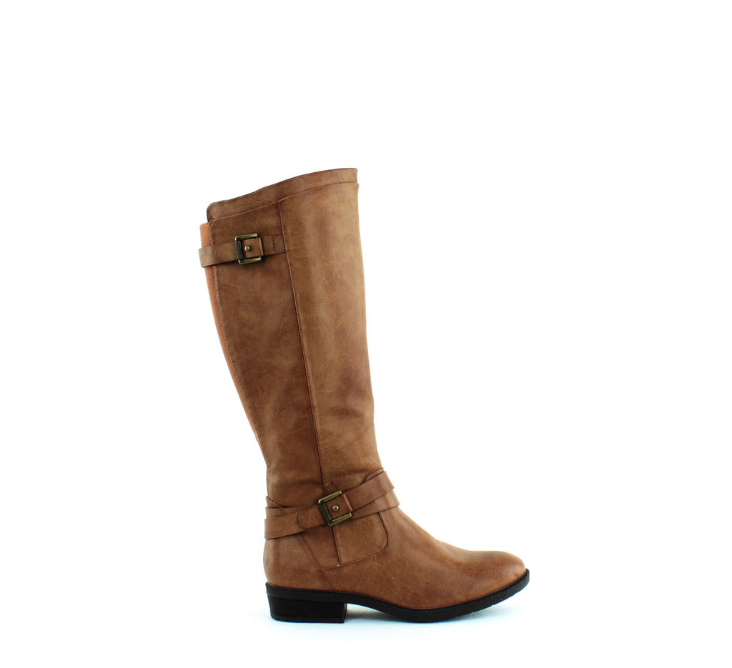 Yieldings Discount Shoes Store's Yalina 2 Riding Boots Wide Calf by Baretraps in Brush Brown