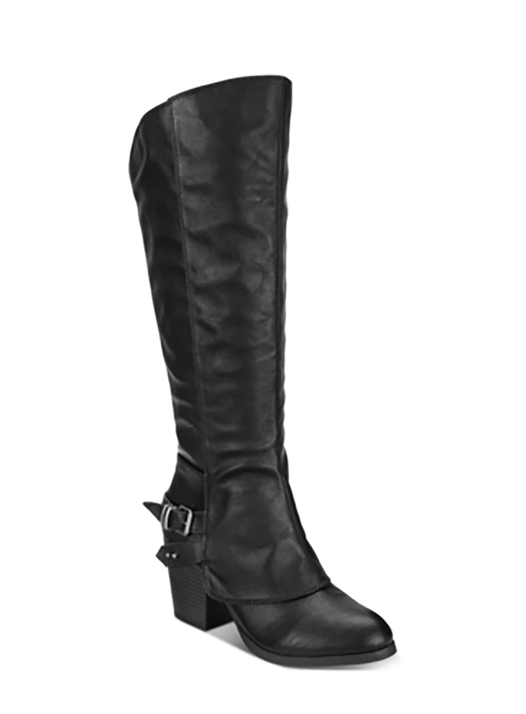Yieldings Discount Shoes Store's Emilee Boots by American Rag in Black
