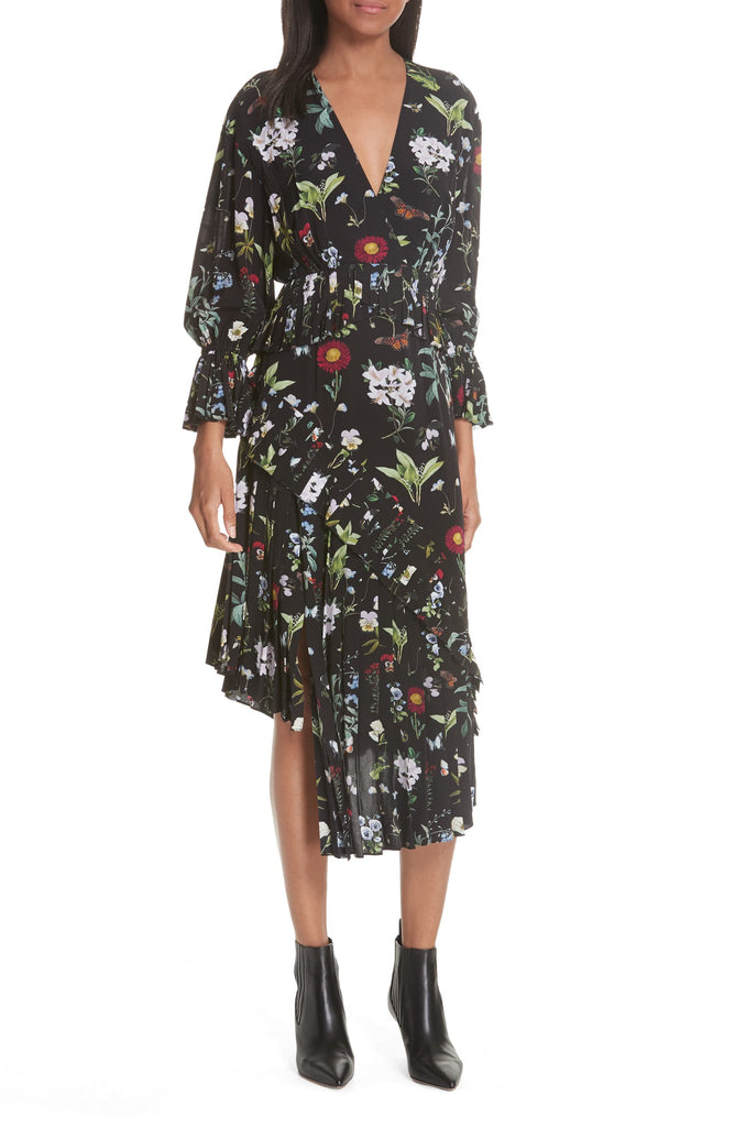 Yieldings Discount Clothing Store's Analena Midi Dress by Joie in Caviar