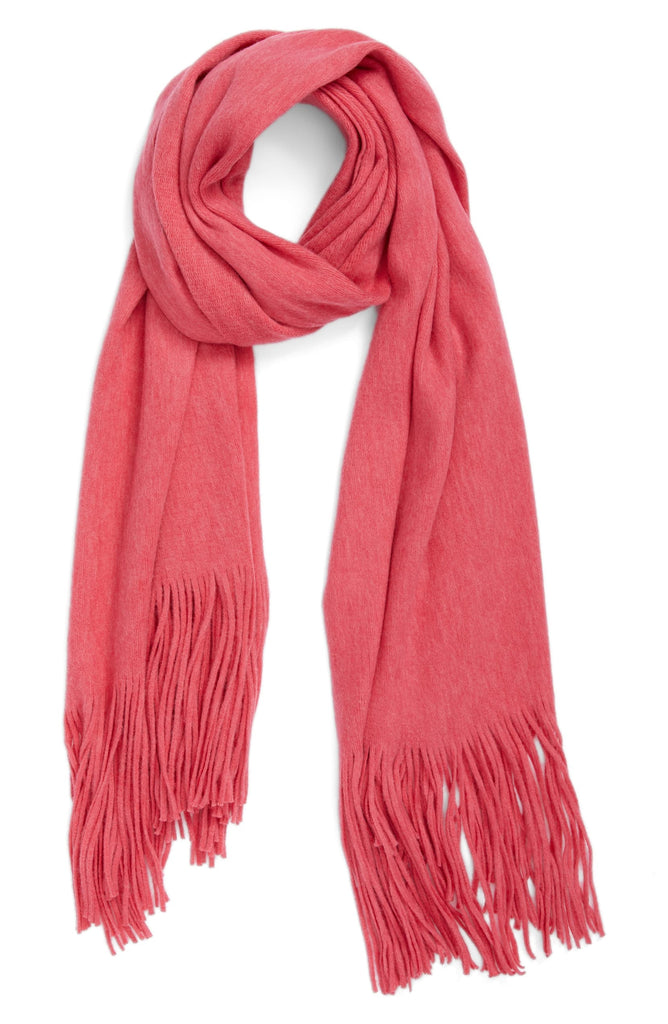 Yieldings Discount Accessories Store's Kolby Brushed Scarf by Free People in Dark Pink