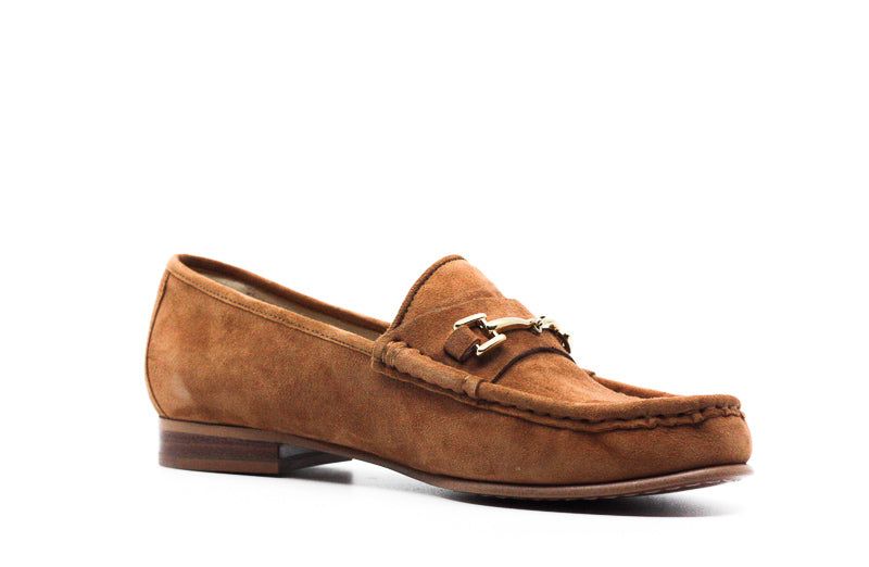 Yieldings Discount Shoes Store's Talia Saddle Suede Loafers by Sam Edelman in Tan