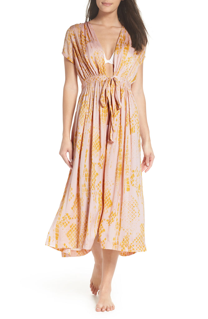 Intimately By Free People | Printed Tie Waist Long Robe