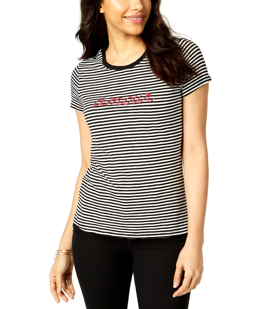 Yieldings Discount Clothing Store's Striped Amour T-Shirt by Maison Jules in Cloud Combo