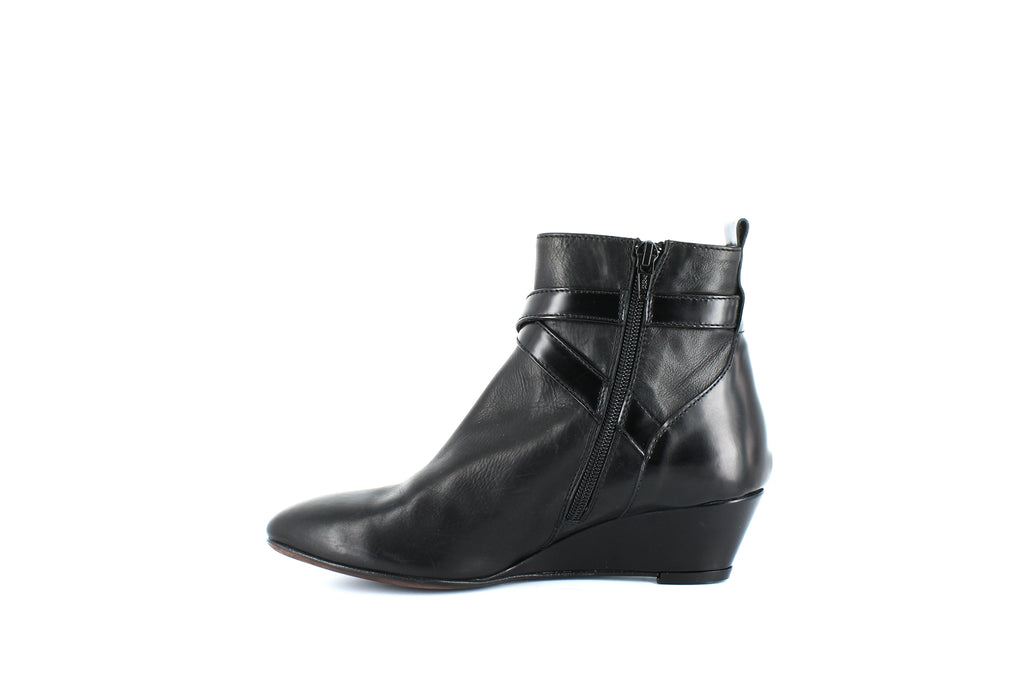Yieldings Discount Shoes Store's Buckle Toe Booties by AGL in Nero