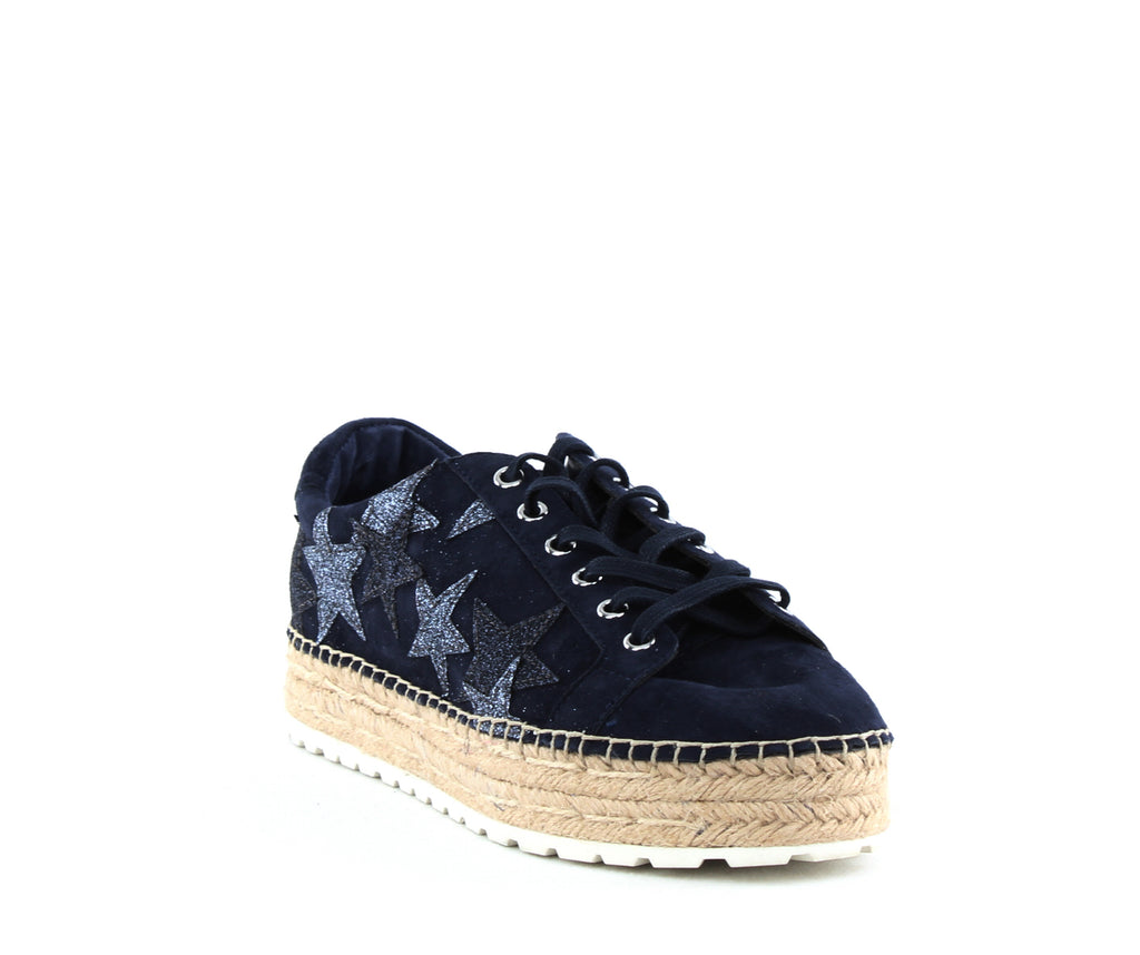 Yieldings Discount Shoes Store's Maevel Platform Sneakers by Marc Fisher LTD in Dark Blue