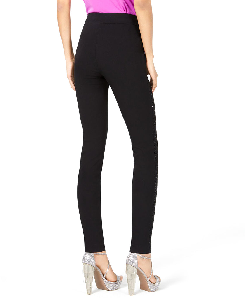 Yieldings Discount Clothing Store's Sparkle-Side Skinny Pants by Thalia Sodi in Deep Black