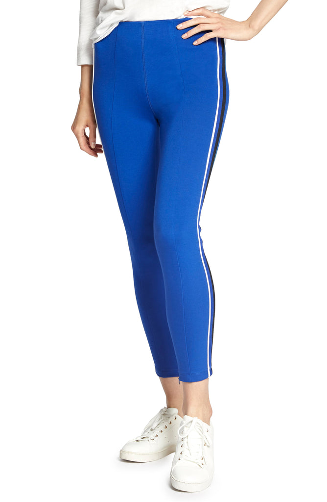 Yieldings Discount Clothing Store's Track Striped Pants by Sanctuary in Electric Blue