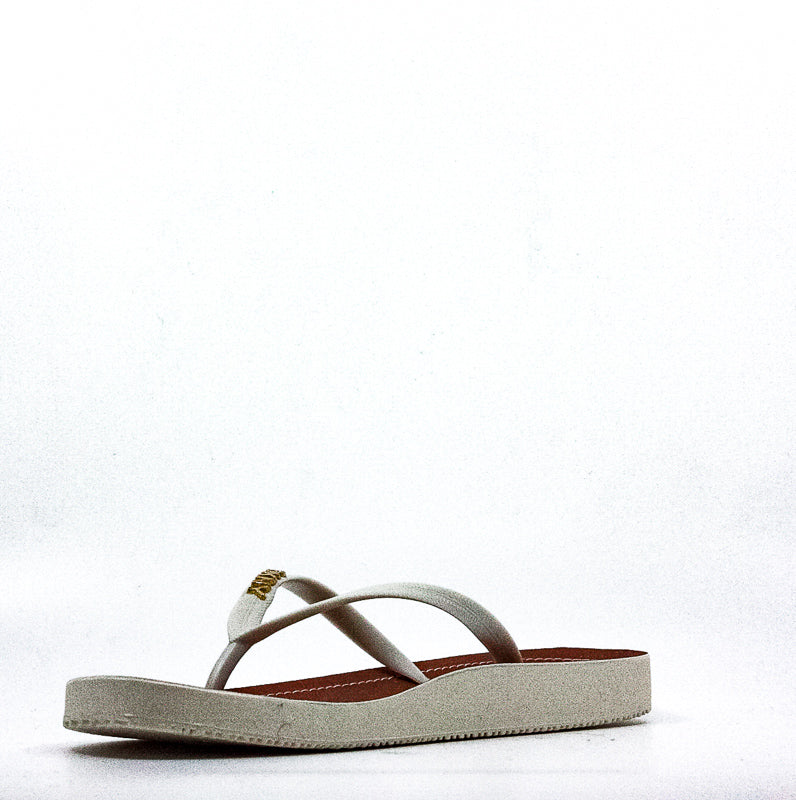 Yieldings Discount Shoes Store's Madi Flip Flop Rubber Thong Sandals by DKNY in White