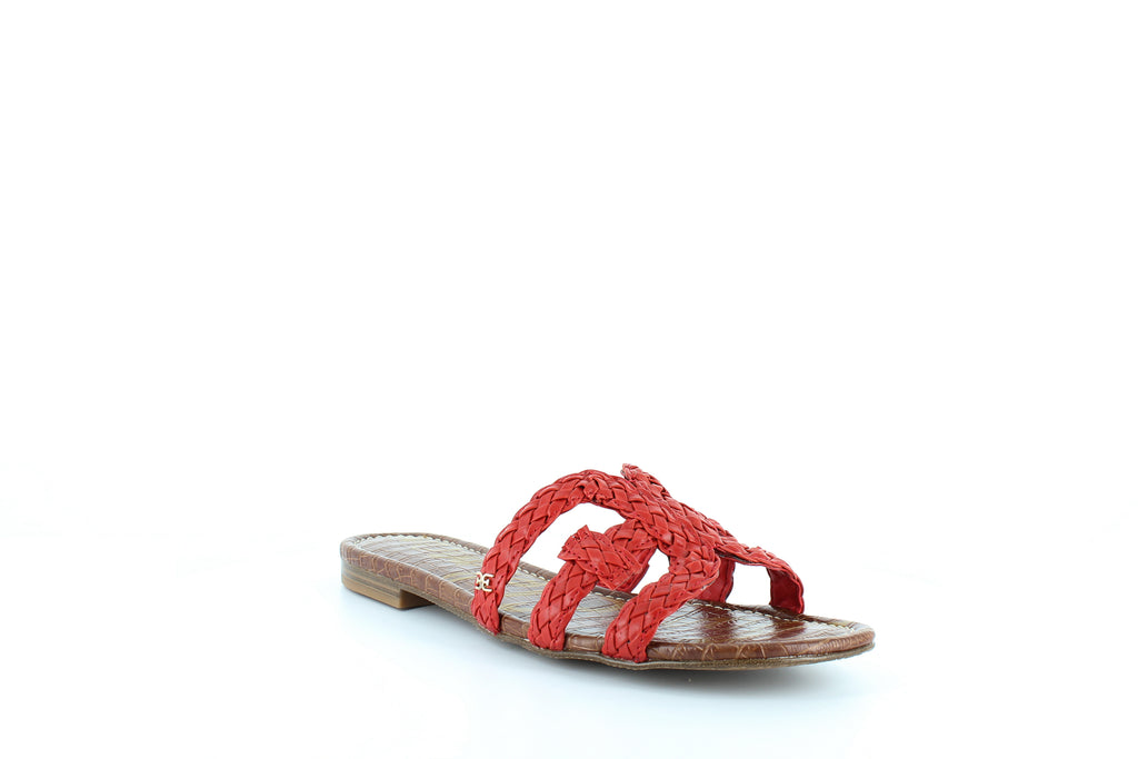 Yieldings Discount Shoes Store's Beckie Slide Sandals by Sam Edelman in Candy Red