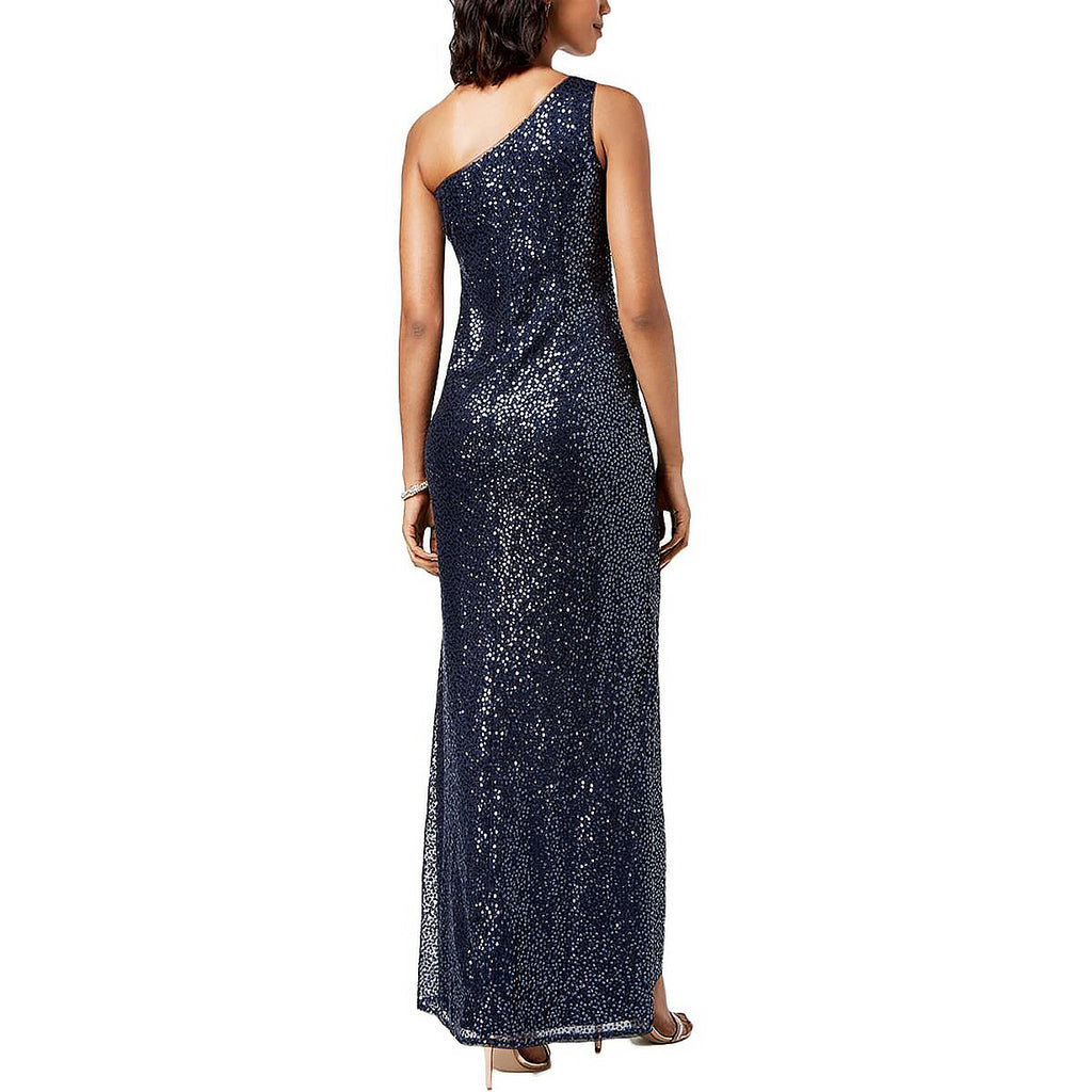 Yieldings Discount Clothing Store's Sequined Mermaid Gown by Adrianna Papell in Midnight