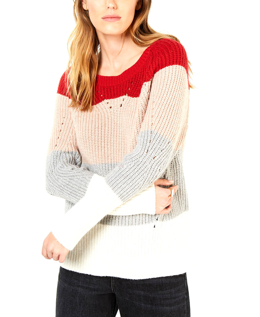 Lucky Brand | Crew Neck Pointelle Sweater