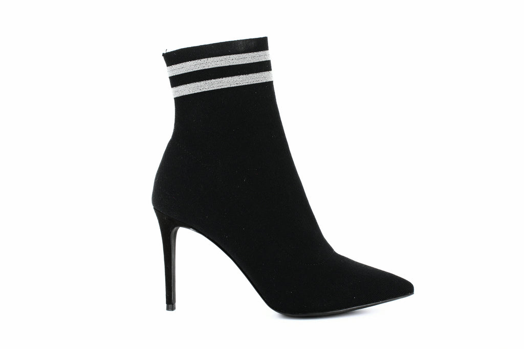 Yieldings Discount Shoes Store's Cookie Sock Booties by Steve Madden in Black
