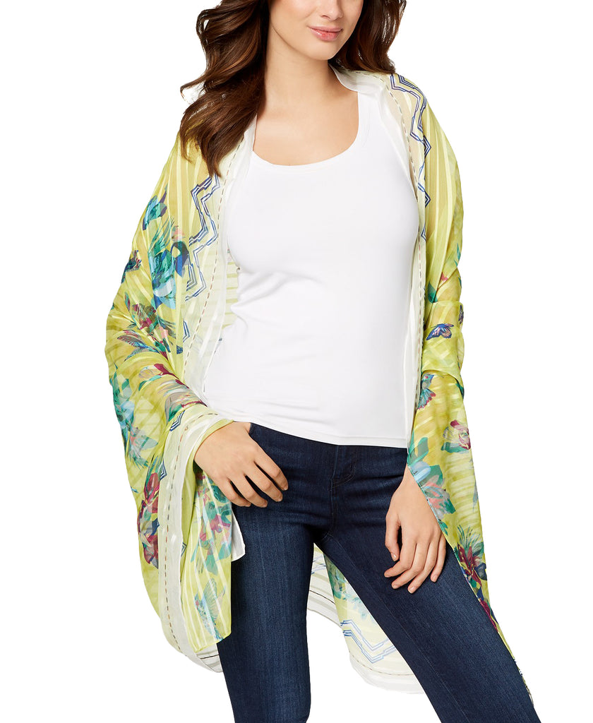 Yieldings Discount Accessories Store's Hummingbird Floral Cover-Up & Wrap by INC in Chartreuse