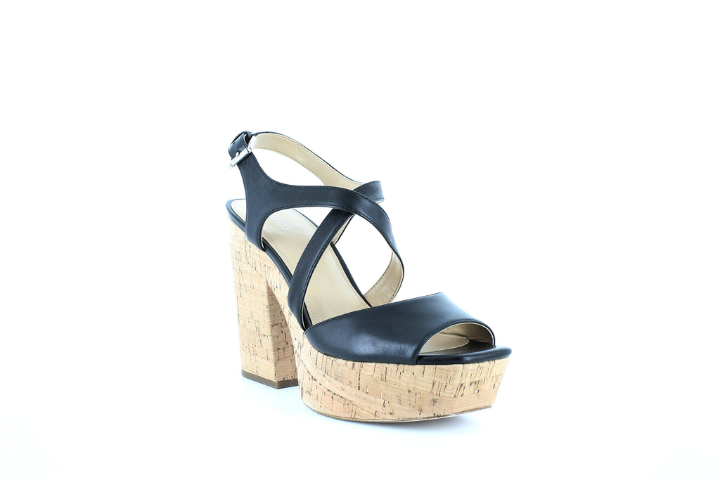 Yieldings Discount Shoes Store's Abbott Platform Sandals by MICHAEL Michael Kors in Black