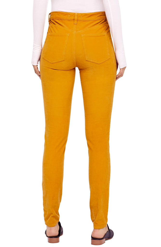 Yieldings Discount Clothing Store's High Rise Long and Lean Corduroy Pants by Free People in Yellow Marshmallow