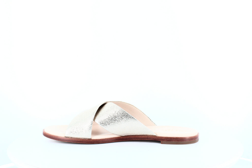 Yieldings Discount Shoes Store's Anica Criss Cross Sandals by Cole Haan in Platinum Silver Glitter