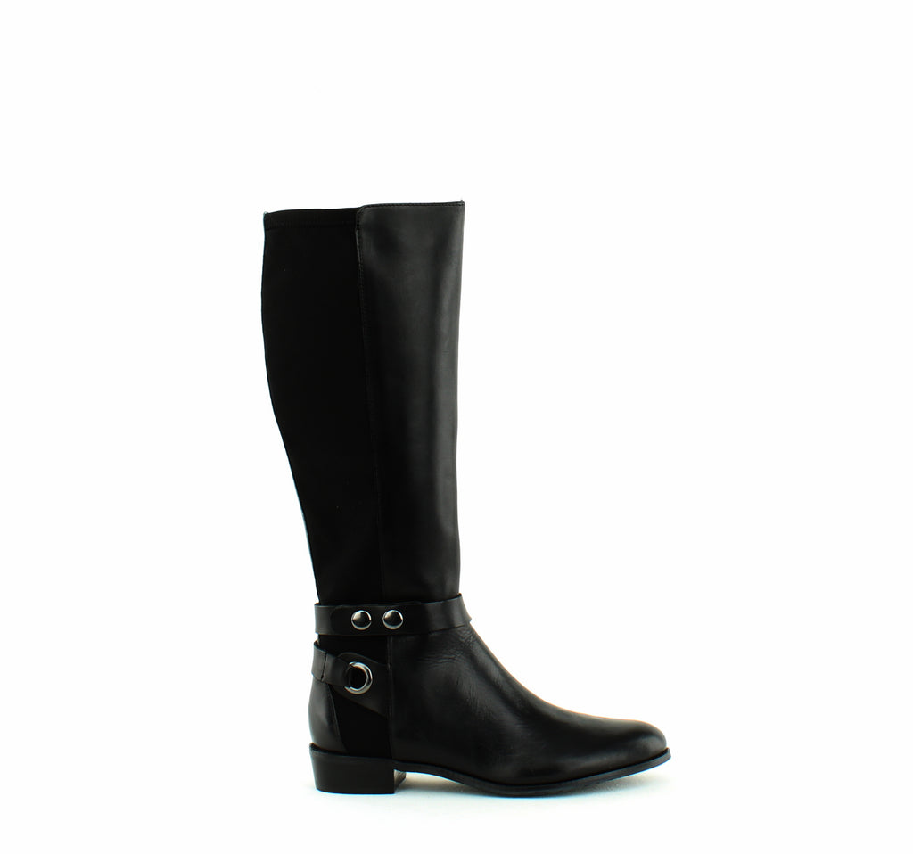 Yieldings Discount Shoes Store's Rooster Calf High Boots Wide Calf by Tahari in Black