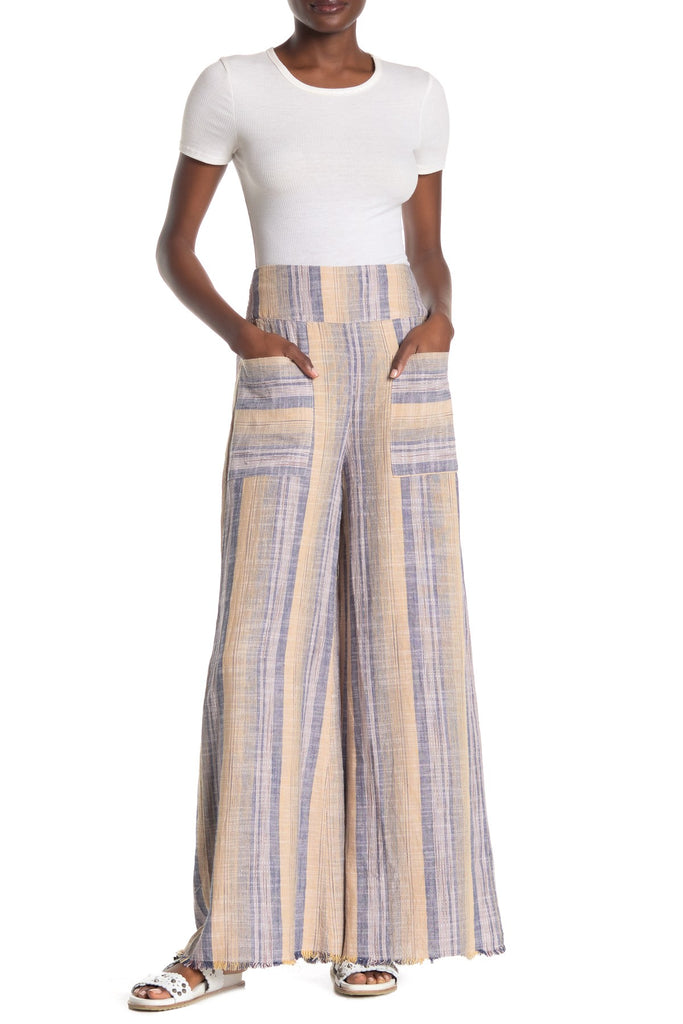 Yieldings Discount Clothing Store's Moonlight Pull On Pants by Free People in Coastal Combo