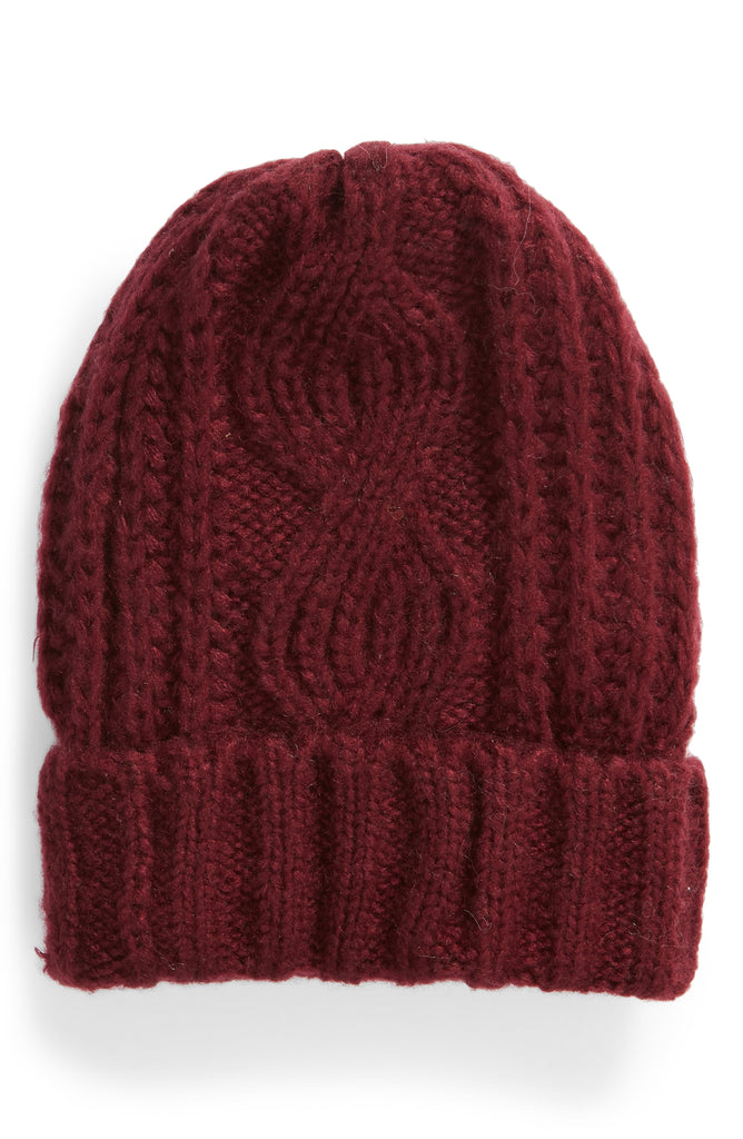 Free People | Harlow Cable Knit Fall Slouchy Beanie Hat