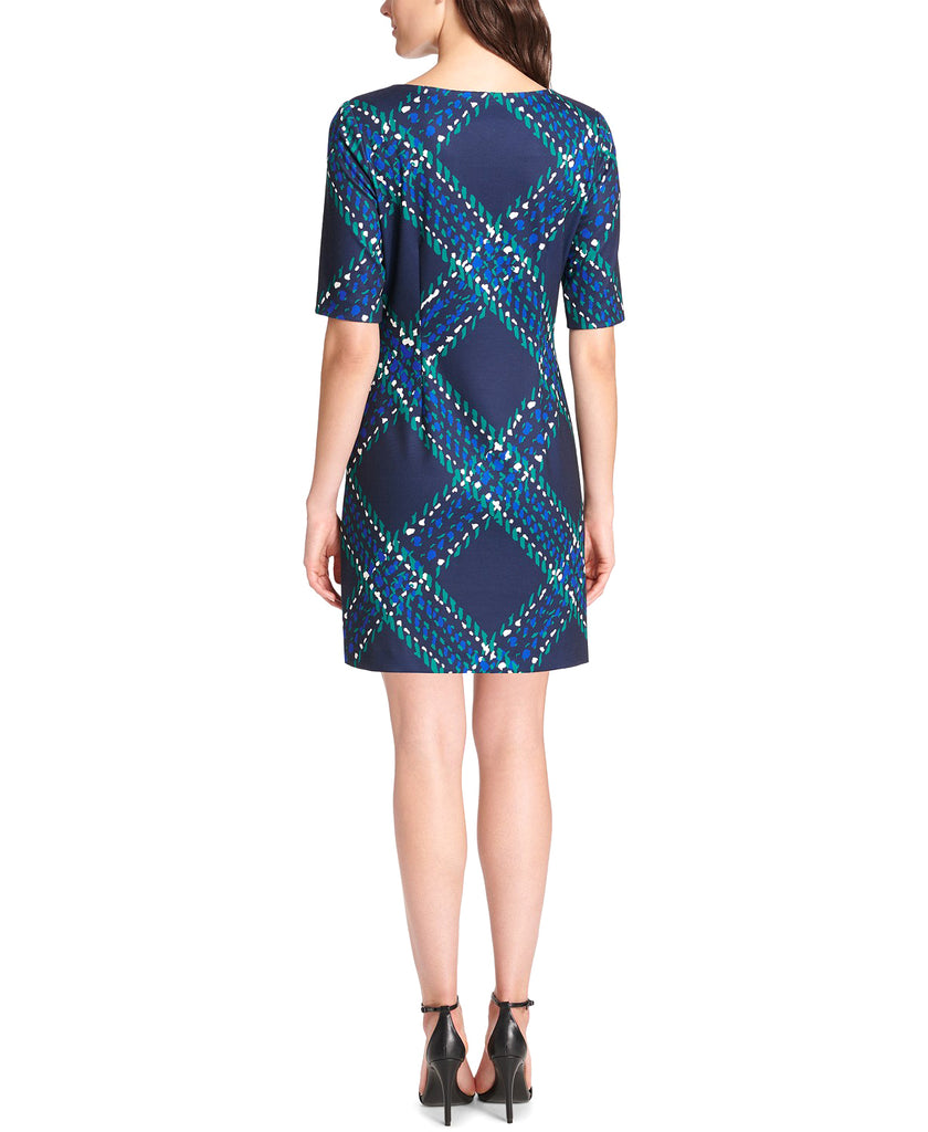 Jessica Howard | Printed Elbow-Sleeve Sheath Dress