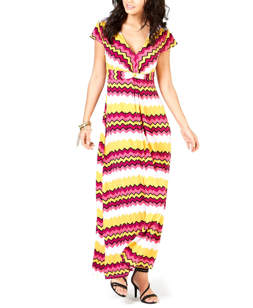 Yieldings Discount Clothing Store's Printed Maxi Dress by Thalia Sodi in Zig Zag Multi