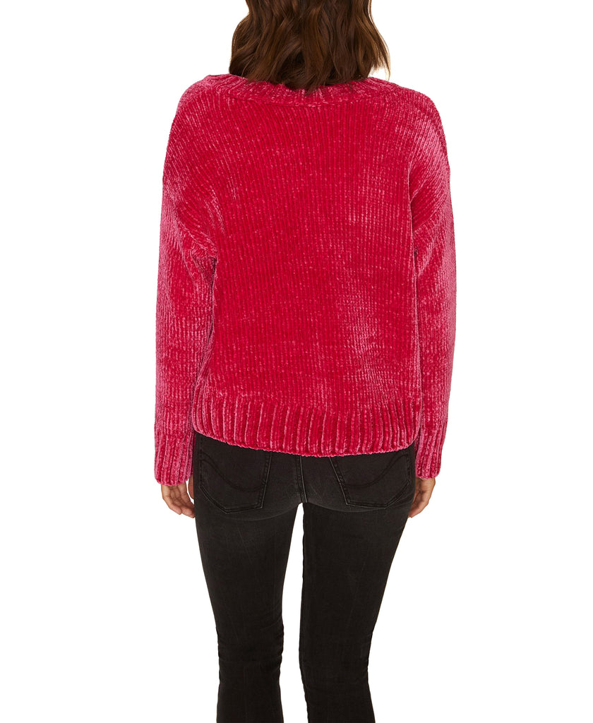 Yieldings Discount Clothing Store's Chenille Pullover Sweater by Sanctuary in Street Red
