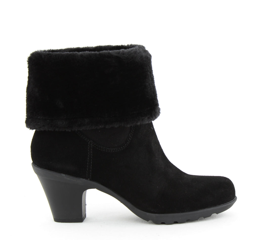 Yieldings Discount Shoes Store's Heward Ankle Booties by Anne Klein Sport in Black Suede