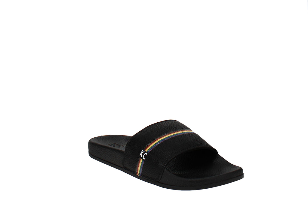 Yieldings Discount Shoes Store's Slide 4 Pride Sandals by Reaction Kenneth Cole in Black