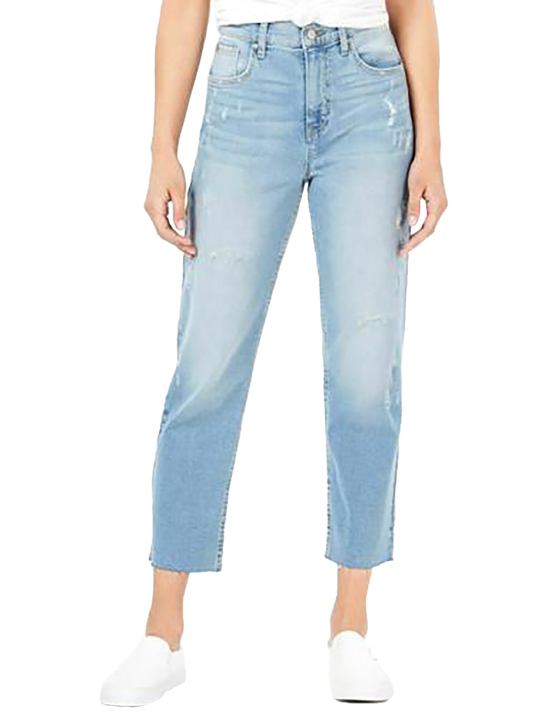 Yieldings Discount Clothing Store's Bella Hi-Rise Straight Crop Jeans by Black Daisy in Triton