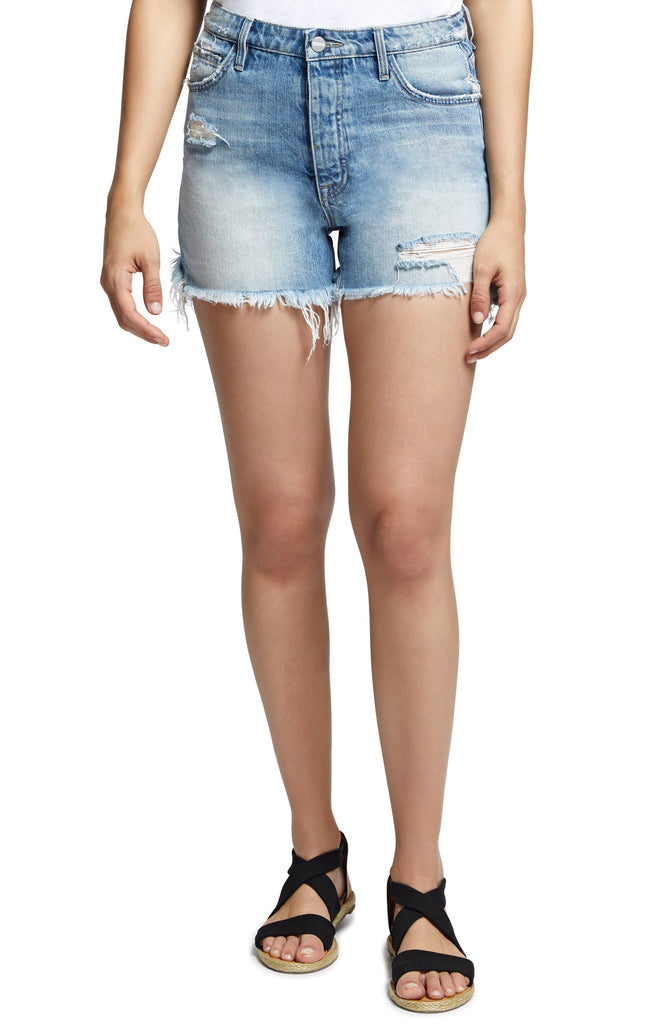 Yieldings Discount Clothing Store's Denim Weekend Shorts by Sanctuary in Raegan Wash