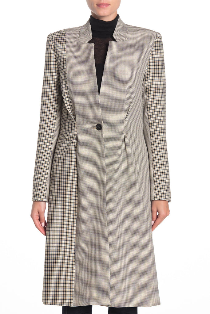 Yieldings Discount Clothing Store's Paiton Plaid Coat by Joie in Camel