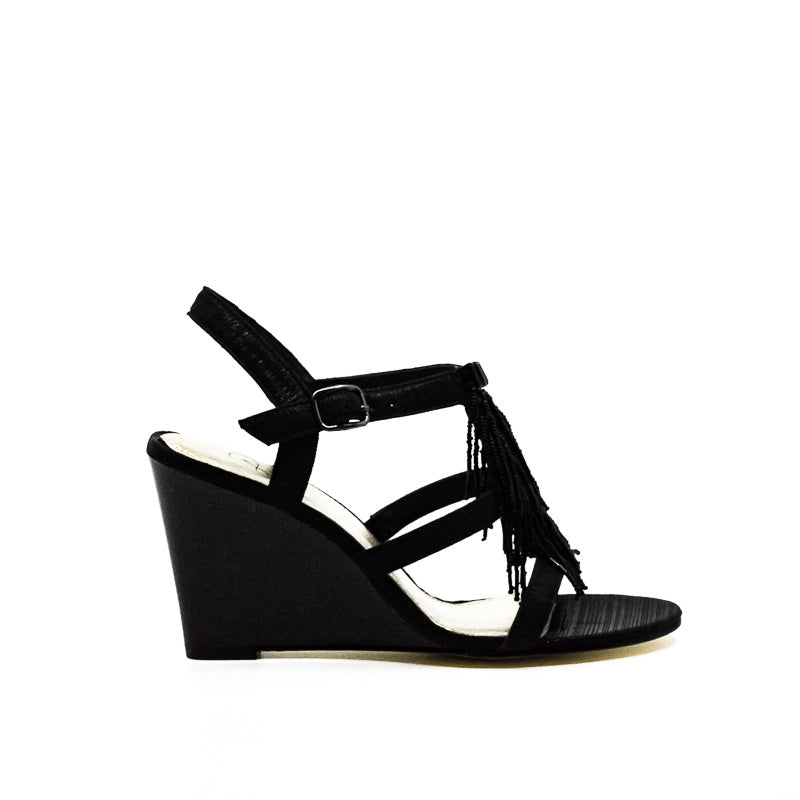 Yieldings Discount Shoes Store's Adair Wedge Sandals by Adrianna Papell in Black