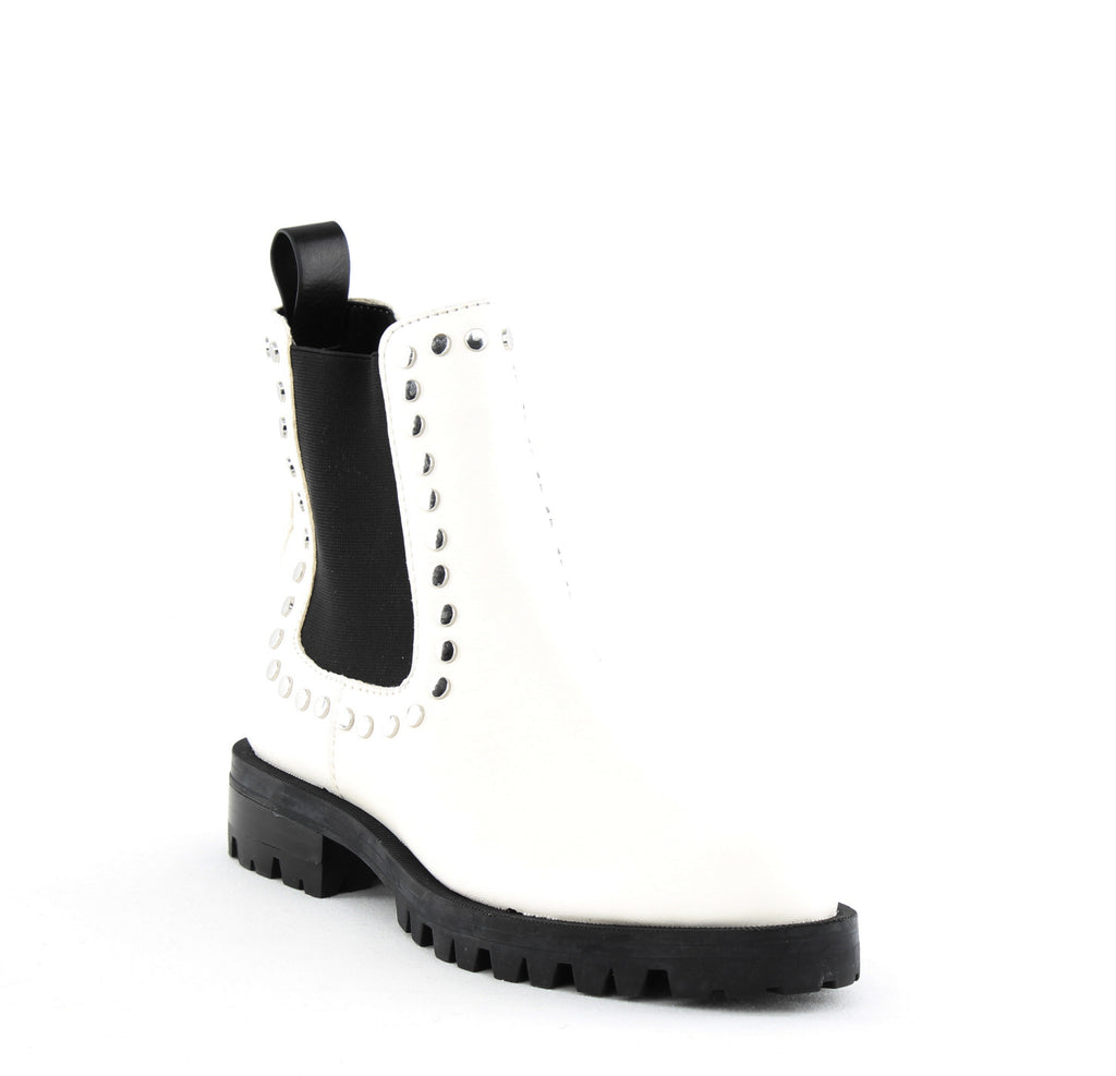 Yieldings Discount Shoes Store's Peton Pull On Studded Bootie by Dolce Vita in Off White