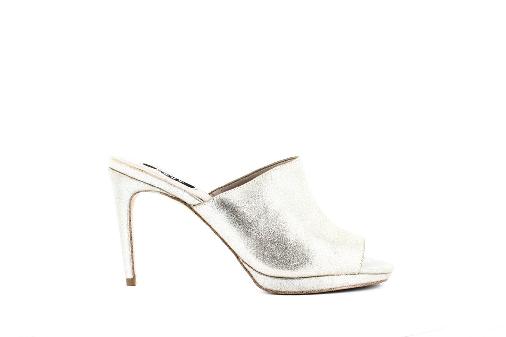 Yieldings Discount Shoes Store's Val Slide Sandals by DKNY in Platinum