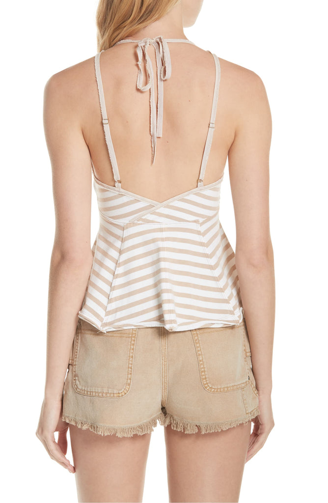 Yieldings Discount Clothing Store's Mylo Striped Tank Top by Free People in Neutral