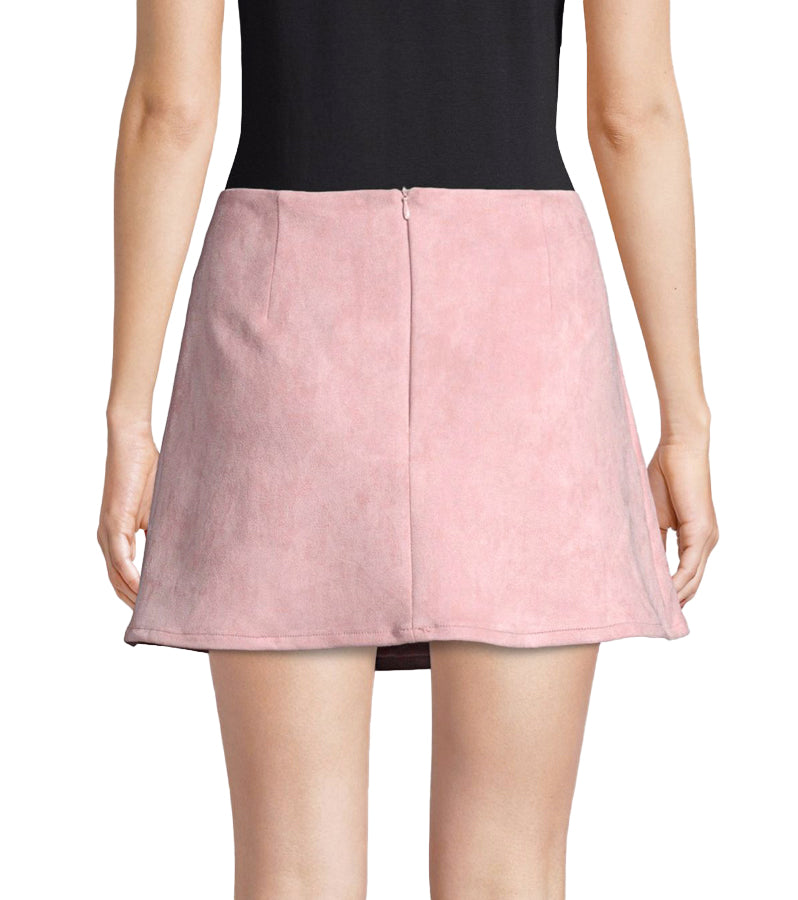 Yieldings Discount Clothing Store's Faux-Suede Mini Skirt by French Connection in Teagown