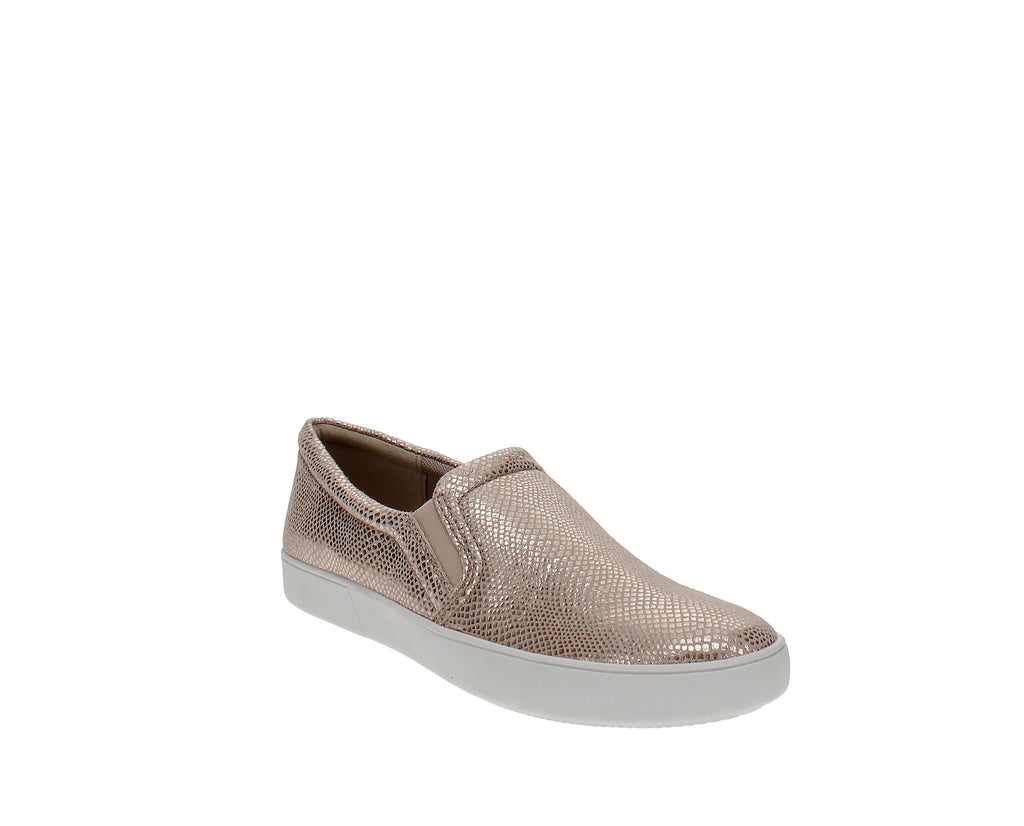 Yieldings Discount Shoes Store's Marianne Slip-On Sneakers by Naturalizer in Rosegold Snake