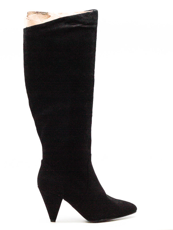 Yieldings Discount Shoes Store's Vergil Boots by STEVEN By Steve Madden in Black