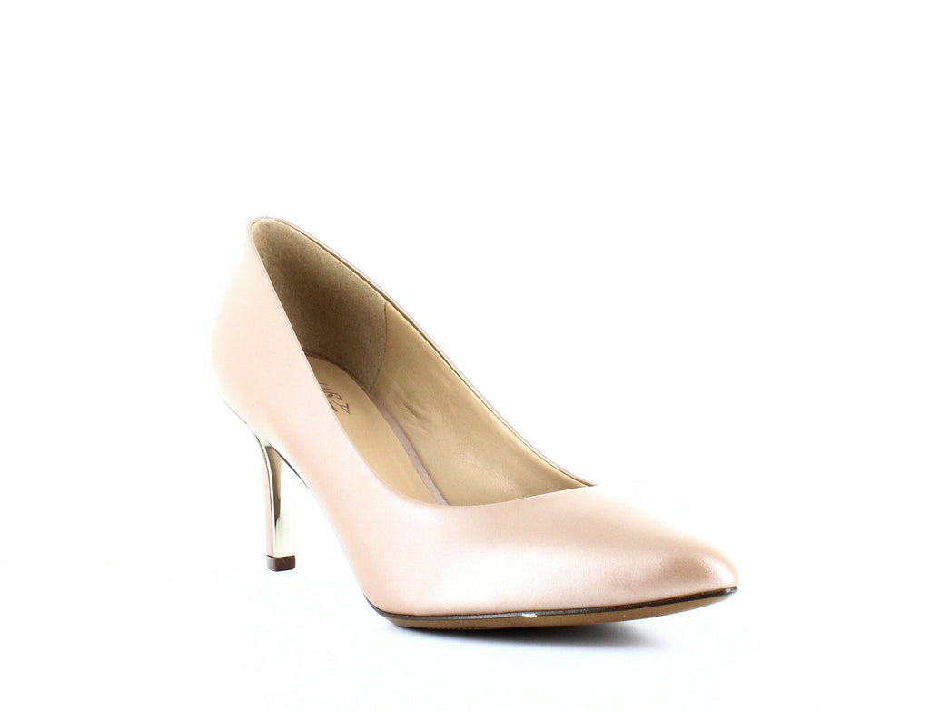 Yieldings Discount Shoes Store's Natalie Leather Pumps by Naturalizer in Latte Leather