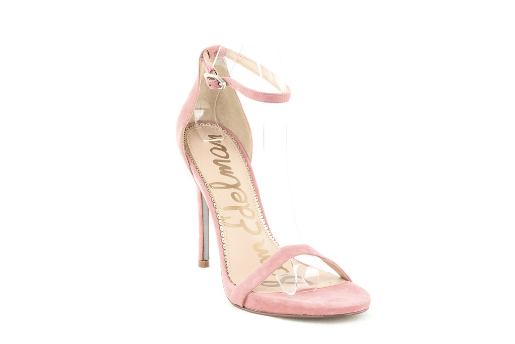Yieldings Discount Shoes Store's Ariella Suede High-Heel Sandals by Sam Edelman in Light Pink Rose