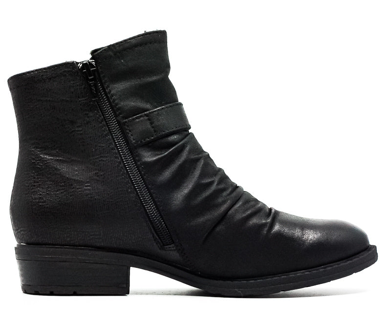 Yieldings Discount Shoes Store's Ysidora Microfiber Boots by Baretraps in Black