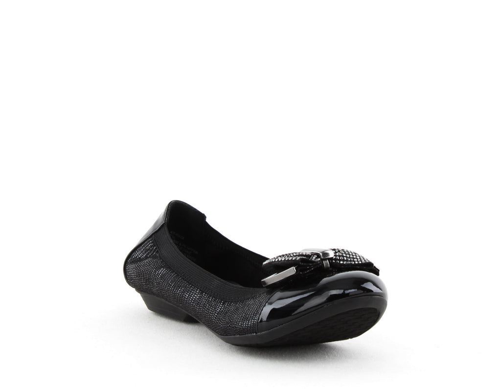 Yieldings Discount Shoes Store's Roza Bow Flats by Karen Scott in Black