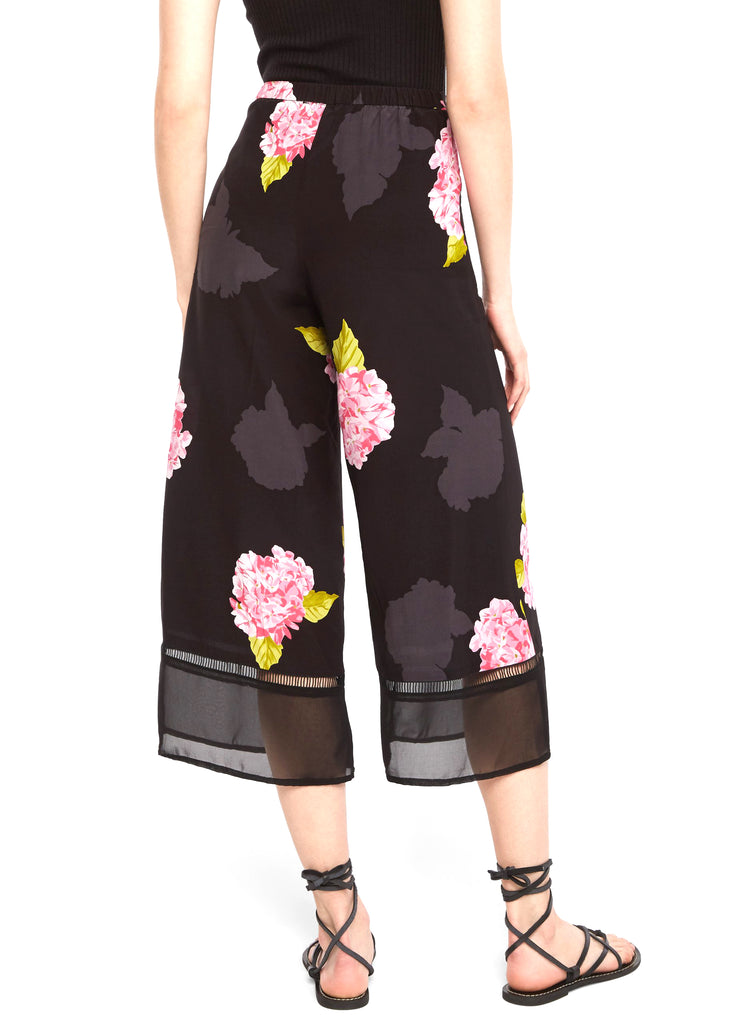 Yieldings Discount Clothing Store's Printed Fluid Trouser by French Connection in Black