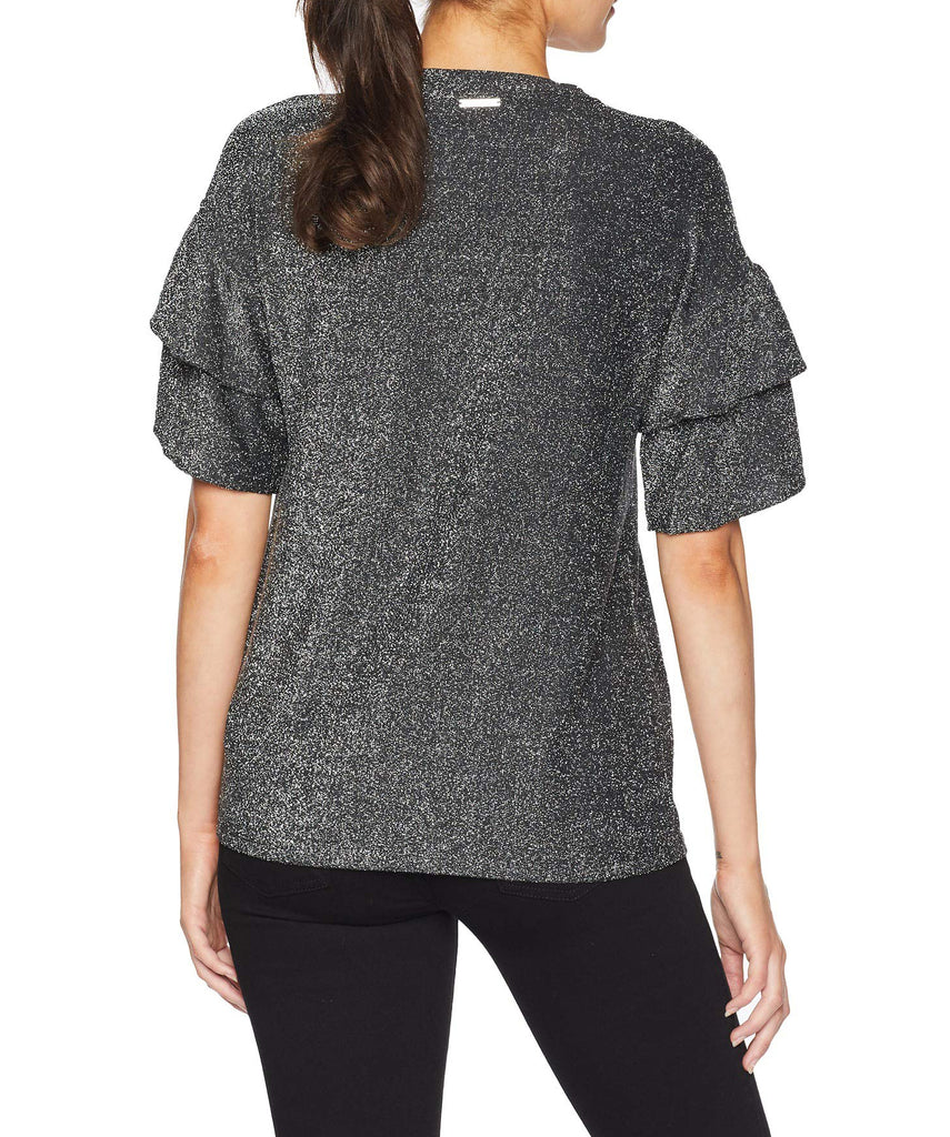 Michael Kors | Elevated Double Ruffle Sleeve Top
