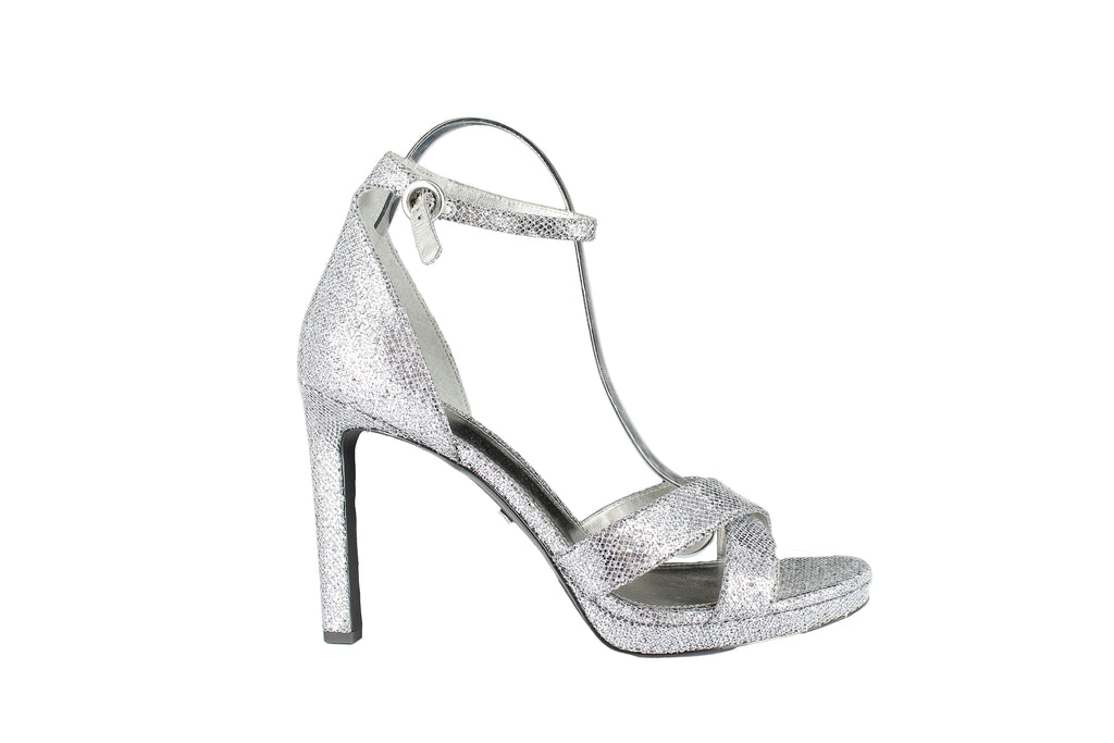 Yieldings Discount Shoes Store's Alexia Sandals by MICHAEL Michael Kors in Silver/Gun